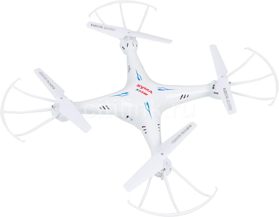 Квадрокоптер SYMA X5SW, с камерой, белый