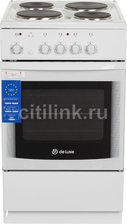Электрическая плита DE LUXE 506004.04э,  эмаль,  белый