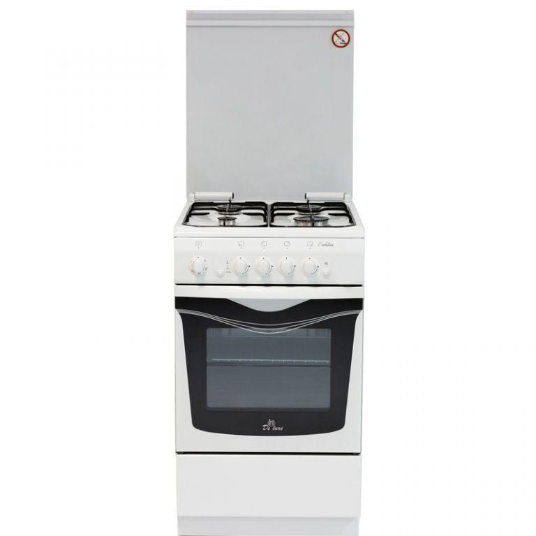 Газовая плита DE LUXE 506040.04г чр,  газовая духовка,  белый