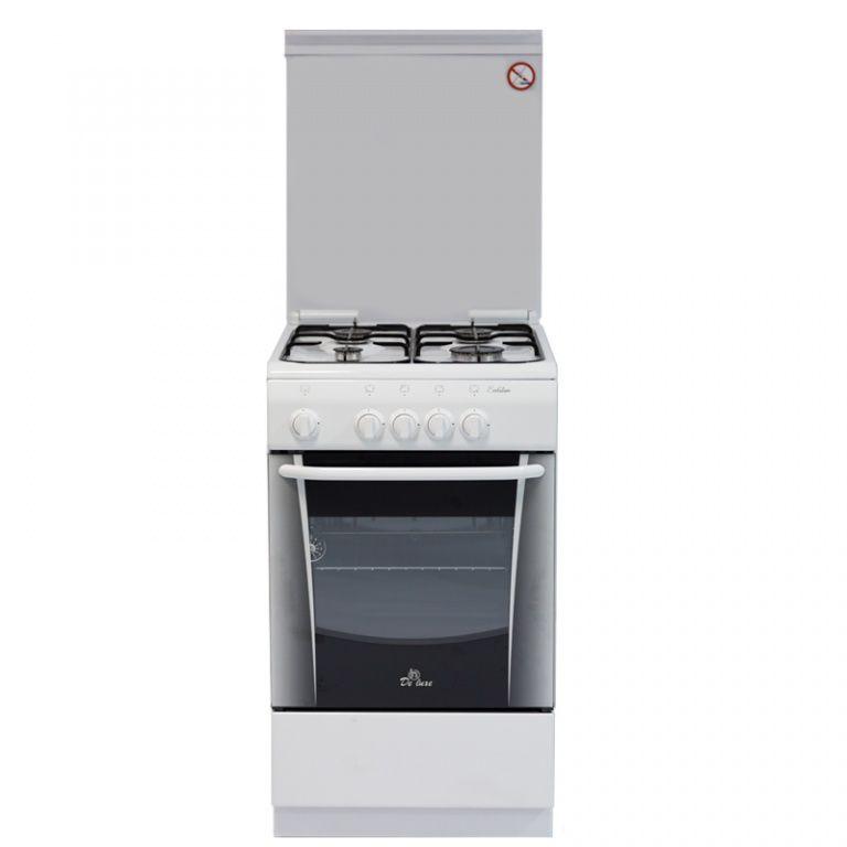Газовая плита DE LUXE 506040.05г,  газовая духовка,  белый