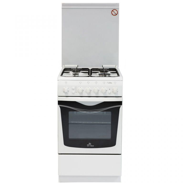 Газовая плита DE LUXE 506040.00гэ чр.,  электрическая духовка,  белый
