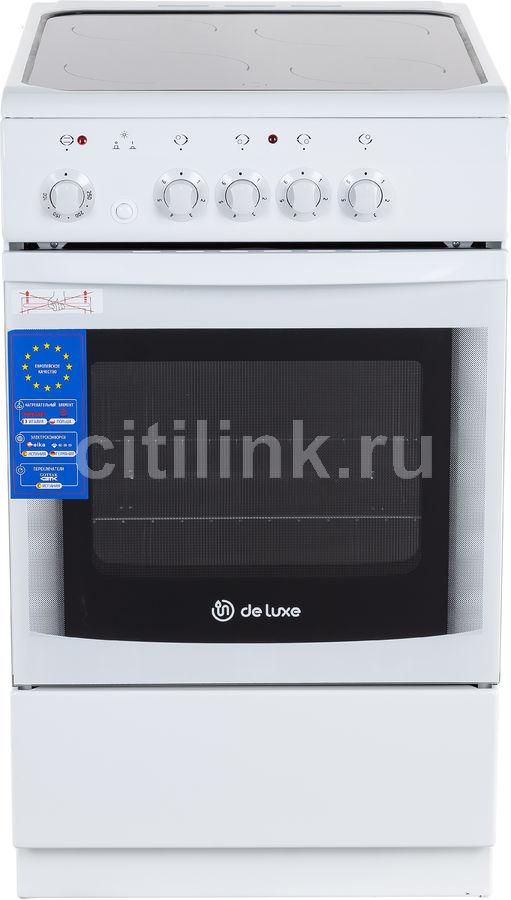 Электрическая плита DE LUXE 506004.04эс,  стеклокерамика,  белый