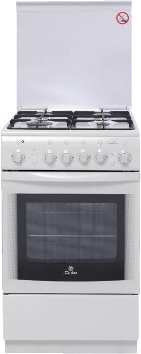 Газовая плита DE LUXE 5040.20гэ ЧР,  электрическая духовка,  белый