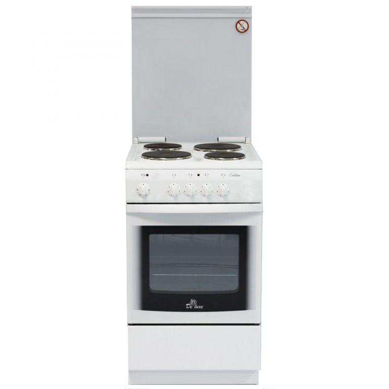 Электрическая плита DE LUXE 5004.14Э КР,  эмаль,  белый