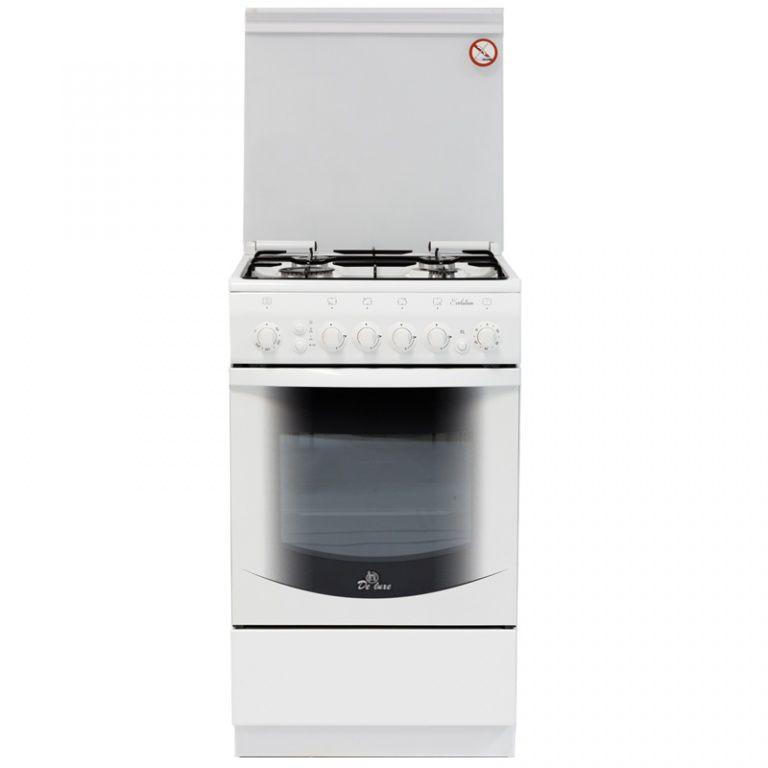 Газовая плита DE LUXE 5040.31г(кр) ЧР,  газовая духовка,  белый