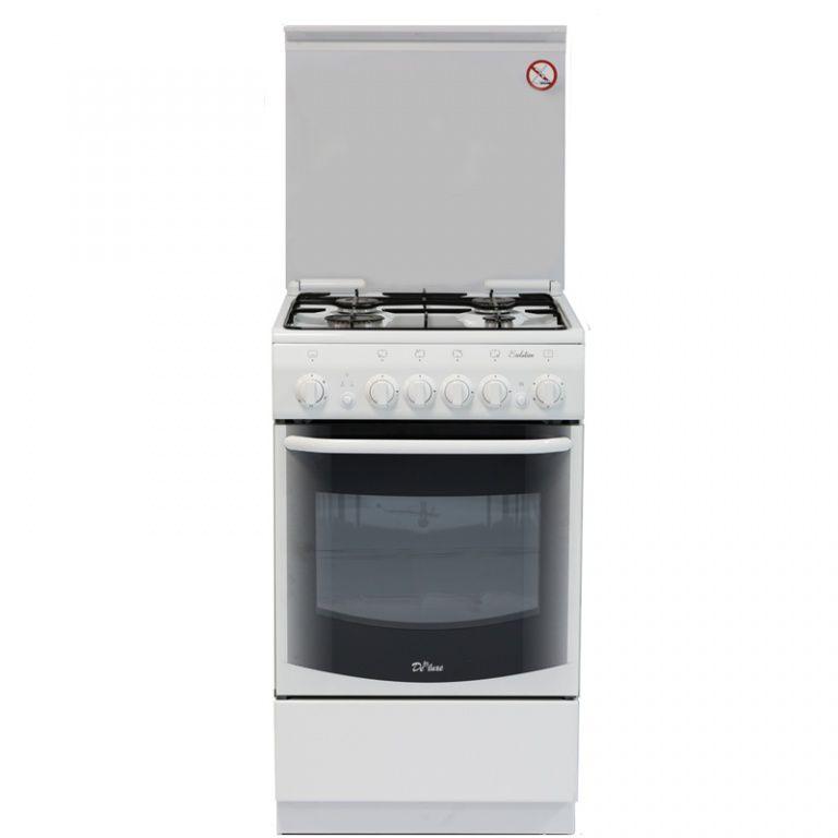Газовая плита DE LUXE 5040.33г,  газовая духовка,  белый