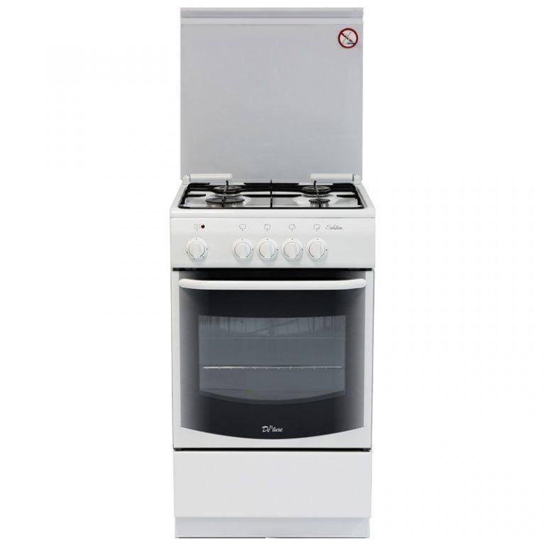 Газовая плита DE LUXE 5040.37г,  газовая духовка,  белый