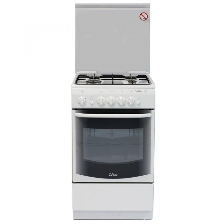 Газовая плита DE LUXE 5040.44г ЧР,  газовая духовка,  белый