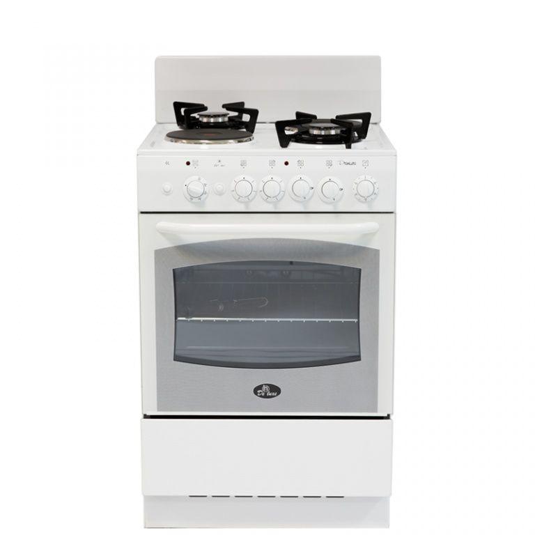 Газовая плита DE LUXE 5422.01гэ (щ),  электрическая духовка,  белый