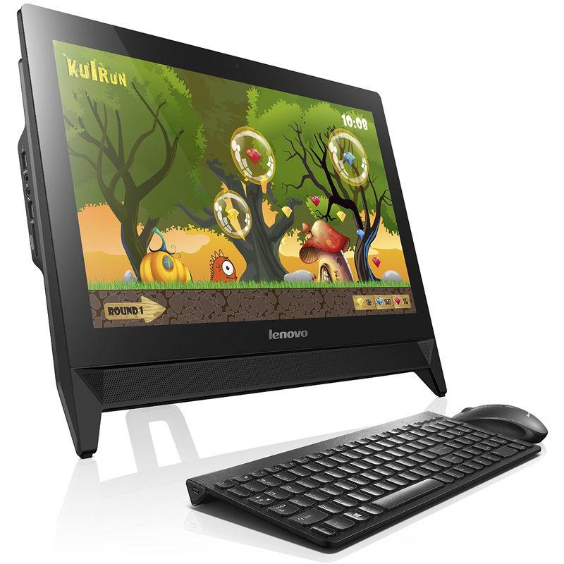 Моноблок LENOVO C20-00, Intel Celeron J3160, 4Гб, 500Гб, Intel HD Graphics 400, DVD-RW, Windows 10, черный [f0bb00rtrk]