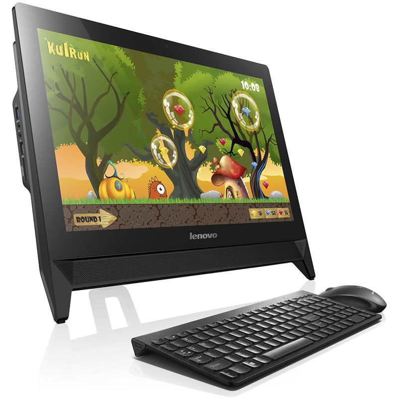 Моноблок LENOVO C20-00, Intel Pentium J3710, 4Гб, 500Гб, nVIDIA GeForce GT920A - 1024 Мб, DVD-RW, Windows 10, черный [f0bb00rnrk]