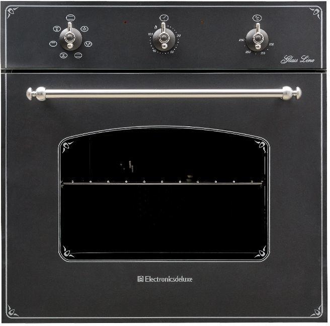 Духовой шкаф ELECTRONICSDELUXE 6006.03 эшв-011,  черный матовый