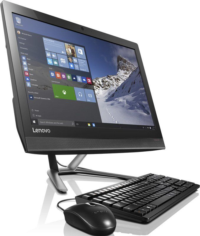 Моноблок LENOVO IdeaCentre 300-23ISU, Intel Pentium 4405U, 4Гб, 1Тб, nVIDIA GeForce 920A - 2048 Мб, DVD-RW, Windows 10, черный и серый [f0by00d2rk]