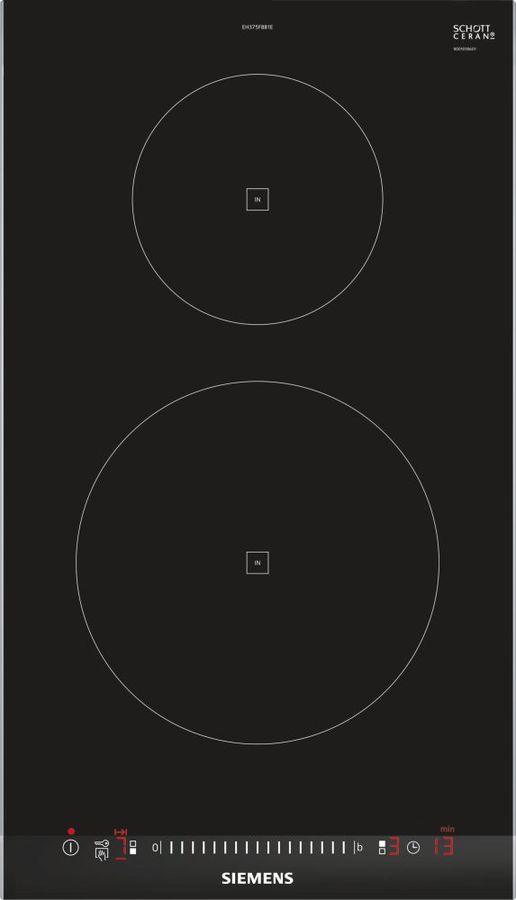 Варочная поверхность SIEMENS EH375FBB1E,  индукционная,  независимая,  черный