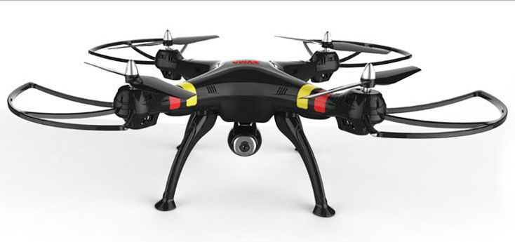 Квадрокоптер SYMA X8C, с камерой, черный [x8c black]