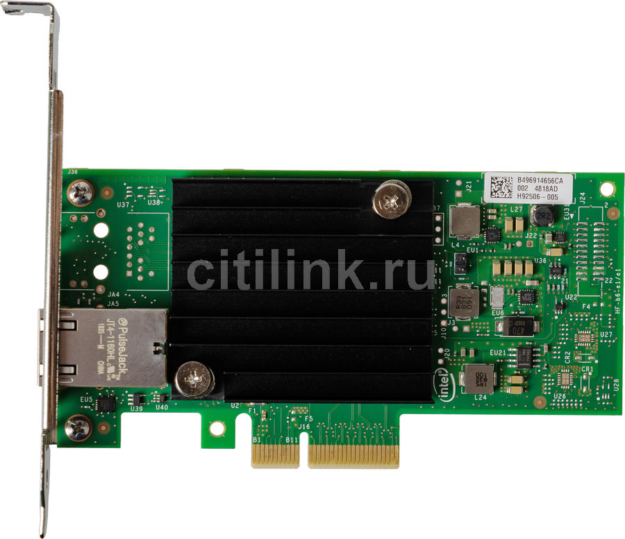 Сетевая карта Intel Original X550T1BLK 1xRG45 10Gb/s PCI-E 3.0x8 Low Profile (X550T1BLK 940125)