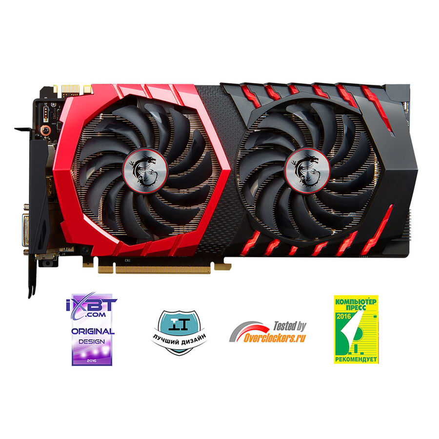 Видеокарта MSI nVidia  GeForce GTX 1070 ,  GeForce GTX 1070 GAMING X 8G,  8Гб, GDDR5, OC,  Ret