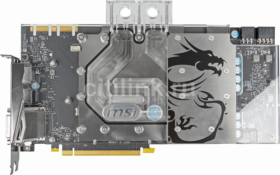 Видеокарта MSI GeForce GTX 1080,  GTX 1080 SEA HAWK EK X,  8Гб, GDDR5X, OC,  Ret