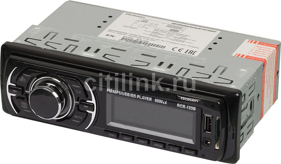 Автомагнитола ROLSEN RCR-122B,  USB,  SD/MMC