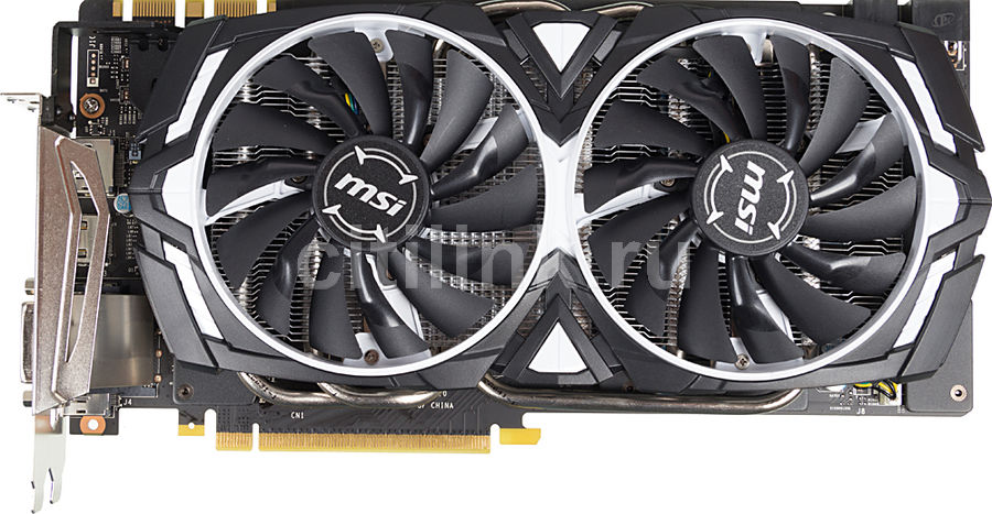 Видеокарта MSI GeForce GTX 1080,  GTX 1080 ARMOR 8G OC,  8Гб, GDDR5X, OC,  Ret