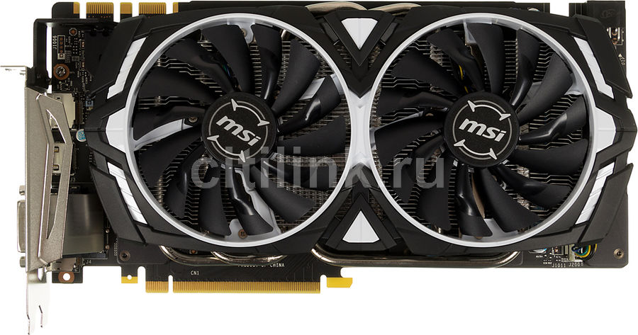 Видеокарта MSI GeForce GTX 1070,  GTX 1070 ARMOR 8G OC,  8Гб, GDDR5, OC,  Ret