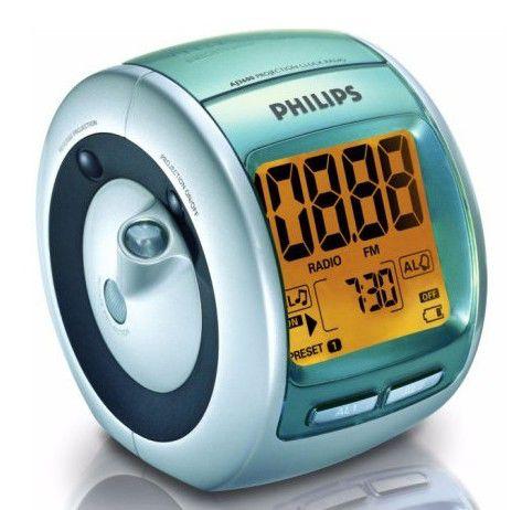 Радиобудильник PHILIPS AJ3600, оранжевая подсветка,  серебристый