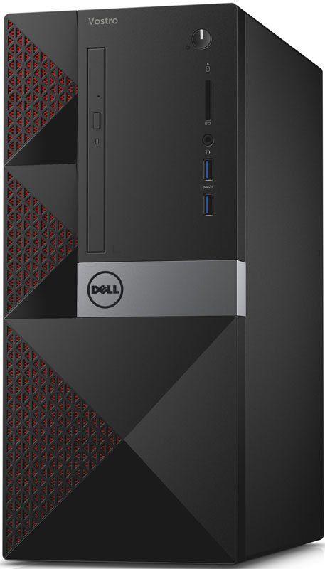 Компьютер  DELL Vostro 3650,  Intel  Pentium  G4400,  DDR3 4Гб, 500Гб,  Intel HD Graphics 510,  DVD-RW,  CR,  Linux,  черный [3650-0236]