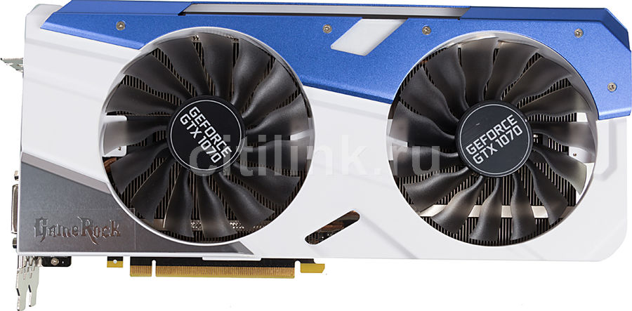 Видеокарта PALIT nVidia  GeForce GTX 1070 ,  PA-GTX1070 GAMEROCK 8G,  8Гб, GDDR5, Ret [ne51070t15p2-1041g]