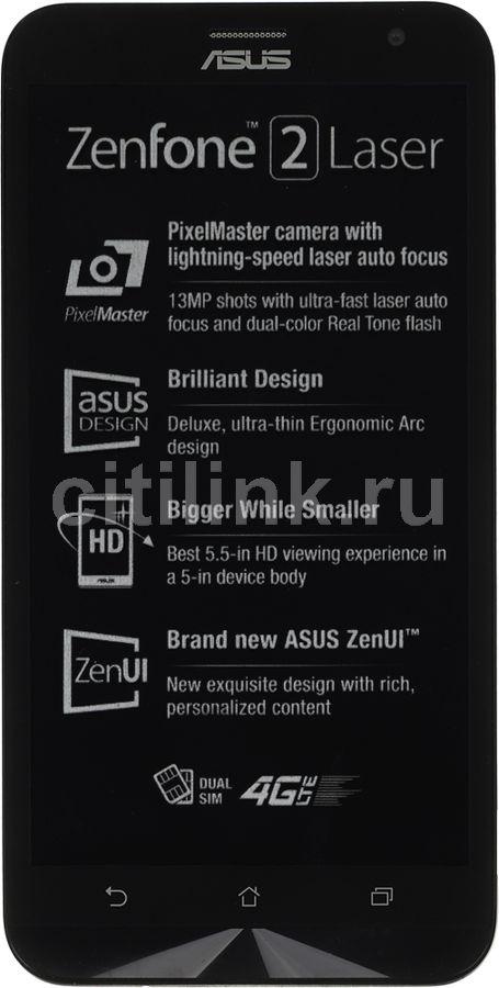 Смартфон Asus ZE550KL ZenFone 2 Laser 32Gb белый моноблок 3G 4G 2Sim 5.5