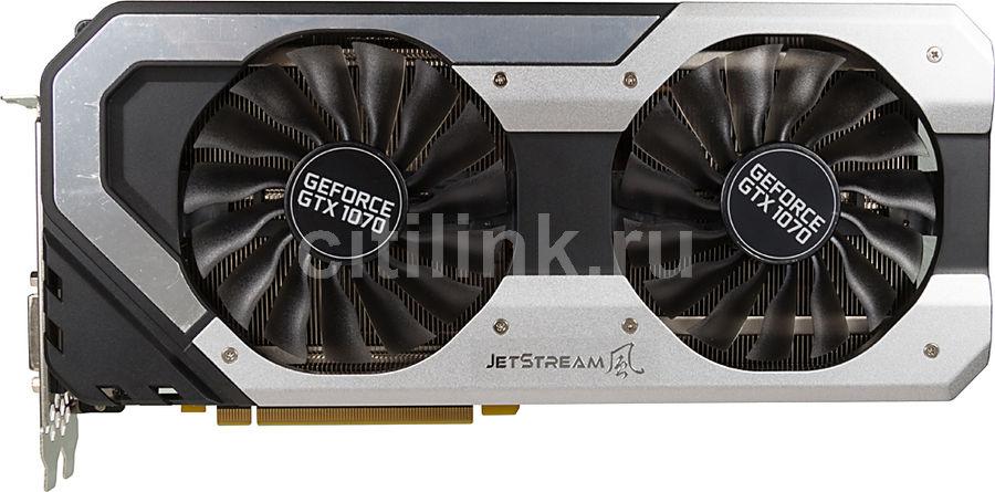 Видеокарта PALIT nVidia  GeForce GTX 1070 ,  PA-GTX1070 JETSTREAM 8G,  8Гб, GDDR5, Ret [ne51070015p2-1041j]