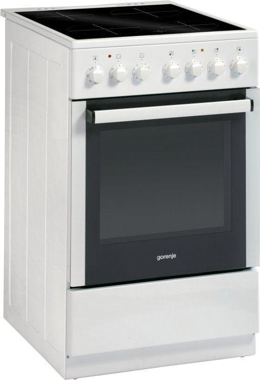 Электрическая плита GORENJE EC52203AW0,  стеклокерамика,  белый
