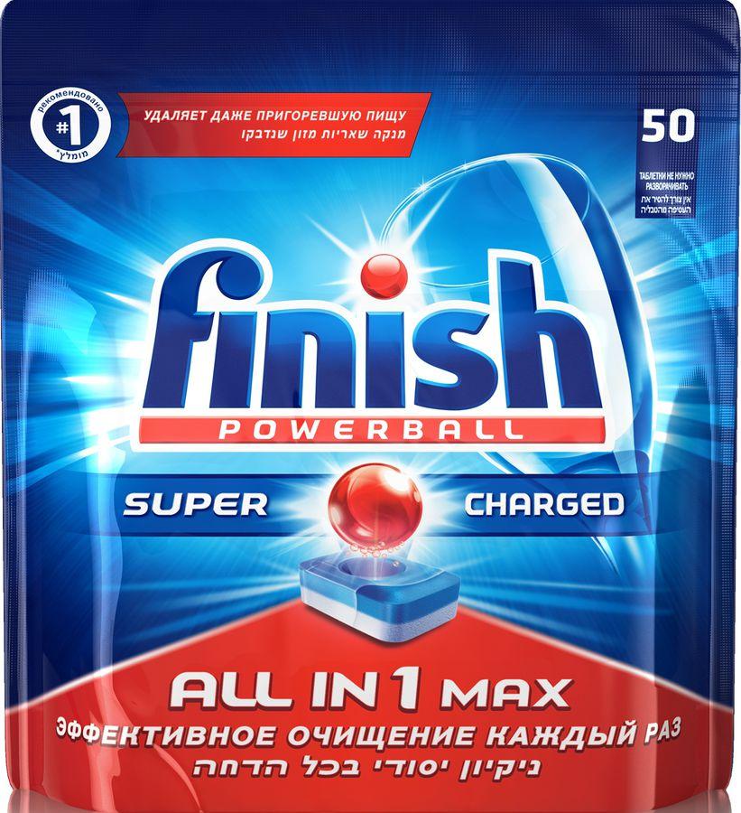 Средство для мытья посуды FINISH All-in-1 MAX,  для посудомоечных машин,  50 [3018752]