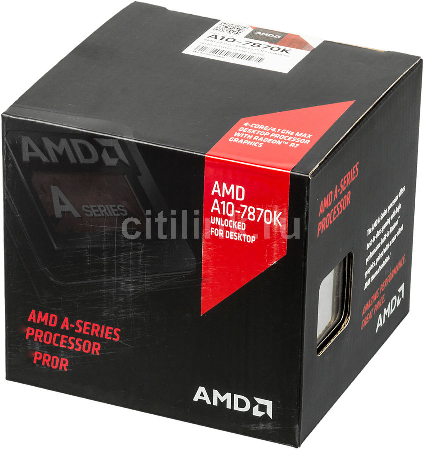 Процессор AMD A10 7870K, SocketFM2+ BOX [ad787kxdjcsbx]