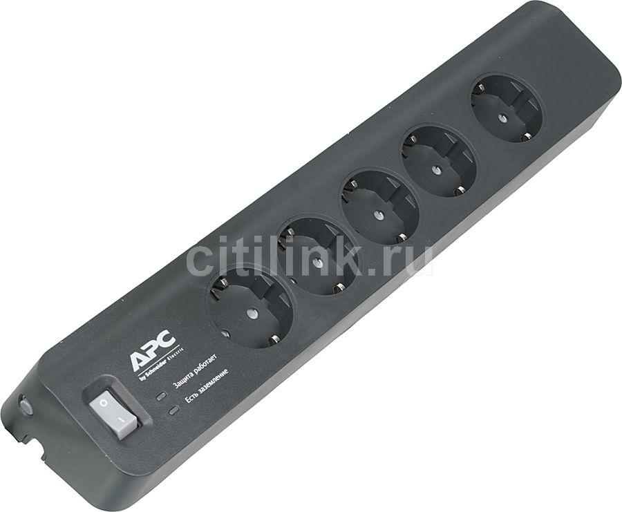 Сетевой фильтр APC PM5B-RS, 1.83м, черный