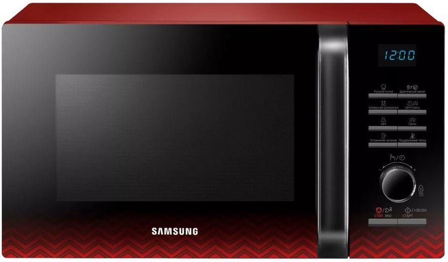 Микроволновая Печь Samsung MG23H3115PR 23л. 800Вт черный/красный