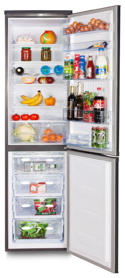 Холодильник SINBO SR 299R,  двухкамерный,  серебристый