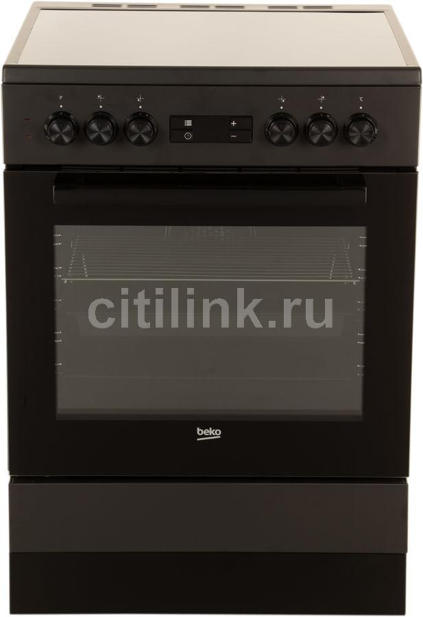 Электрическая плита BEKO FSM67320GAS,  стеклокерамика,  черный