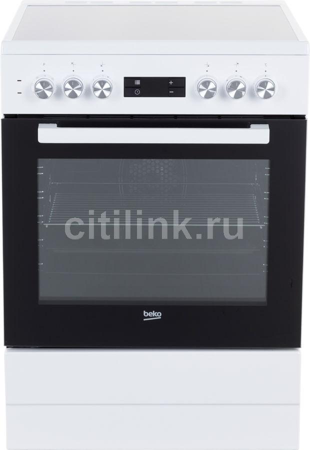 Электрическая плита BEKO FSM67320GWS,  стеклокерамика,  белый