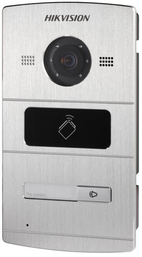 Видеопанель HIKVISION DS-KV8102-IM,  цветная,  накладная,  серебристый