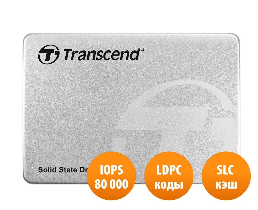 Накопитель SSD TRANSCEND TS240GSSD220S 240Гб, 2.5