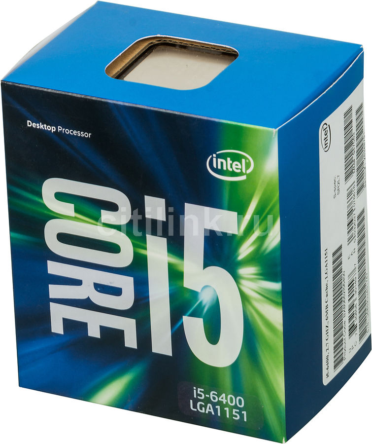 Процессор INTEL Core i5 6400, LGA 1151 BOX