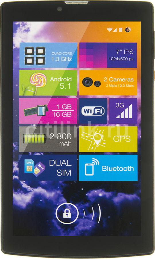 Планшет DIGMA Plane 7007 3G,  1GB, 16GB, 3G,  Android 7.0 черный [ps7054mg / ps7054mg]