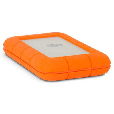 Внешний жесткий диск LACIE Rugged V2 STEV1000400, 1Тб, оранжевый
