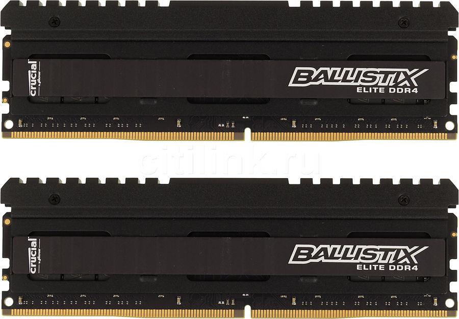 Модуль памяти CRUCIAL Ballistix Elite BLE2C8G4D26AFEA DDR4 -  2x 8Гб 2666, DIMM,  Ret