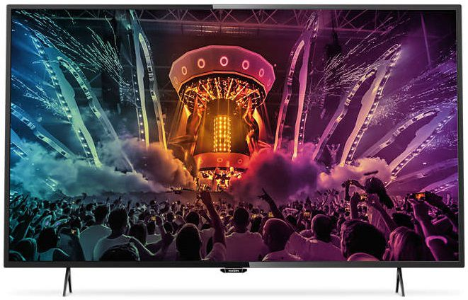 LED телевизор PHILIPS 55PUT6101/60 R, 55, Ultra HD 4K (2160p), черный телевизор philips 32pht4100 60 hd pmr 100 черный