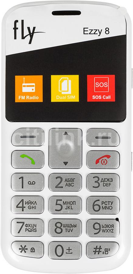 Мобильный телефон Fly Ezzy 8 белый моноблок 2Sim 2.2