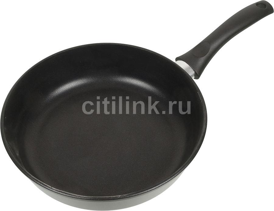 Сковорода НЕВА МЕТАЛЛ ПОСУДА 7326, 26см, без крышки,  черный [в4877]