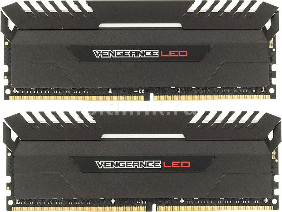 Модуль памяти CORSAIR Vengeance LED CMU16GX4M2A2666C16R DDR4 -  2x 8Гб 2666, DIMM,  Ret