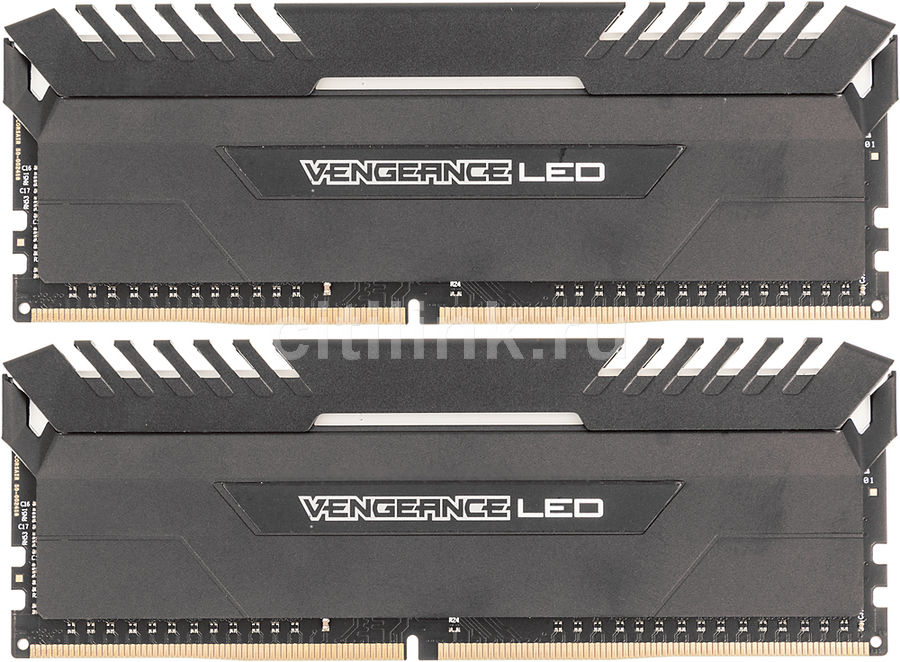 Модуль памяти CORSAIR Vengeance LED CMU16GX4M2C3000C15 DDR4 -  2x 8Гб 3000, DIMM,  Ret