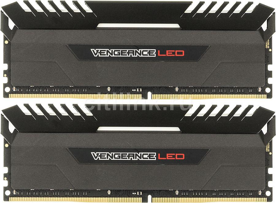 Модуль памяти CORSAIR Vengeance LED CMU16GX4M2C3000C15R DDR4 -  2x 8Гб 3000, DIMM,  Ret